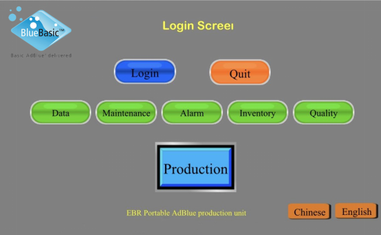 AdBlue machine Remote operation